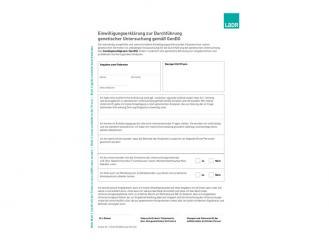 Einwilligungserklärung gemäß GenDG VE 1x 20 St. 1x20 Stück