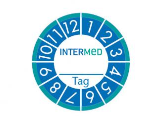 INTERMED Anbruchplakette, 1 Bogen à 40 Etiketten, 1x1 Stück