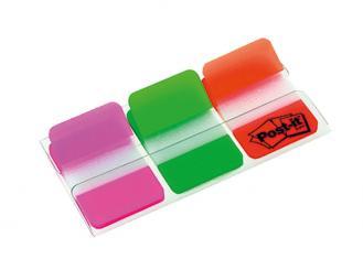 Post-it® Haftstreifen Index Strong 686 pink/grün/orange 1x66 Stück