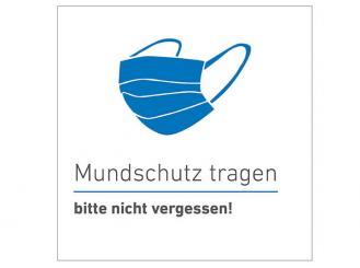 """INTERMED Aufkleber """"Mundschutz tragen"""", quadratisch, 20 x 20 cm 1x1 Stück"""