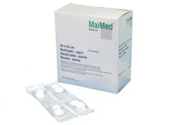 MaiMed®-Mulltupfer pflaumengroß steril 20x20cm 50x4 Stück