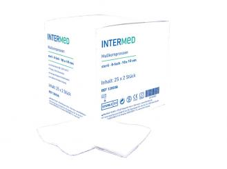 INTERMED Mullkompressen - 8-fach, 10 x 10 cm, steril 25x2 Stück