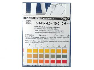 pH-Indikatorstäbchen farbfixiert, nicht blutend pH 4,5 - 10; 1x100 Stück