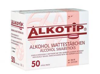 Alkotip® Alkoholwischstäbchen mit grossem Wattekopf 1x50 Stück