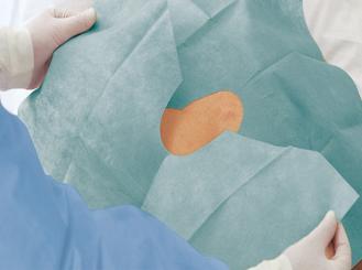 Foliodrape® Lochtücher, selbstklebend, zweiteilig, steril, 75 x 90 cm, 1x40 Tücher