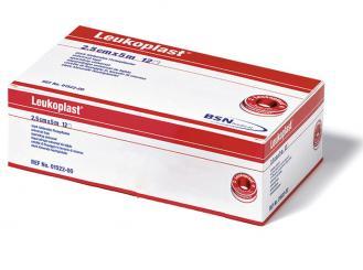 Leukoplast® Rollenpflaster 5 m x 2,50 cm hautfarben ohne Schutzring 1x12 Rollen