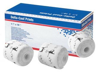 Delta-Cast® Prints Fußbälle 3,6 m x 5,0 cm, 1 x 10 Stück 1x10 Stück
