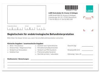 Begleitschein Endokrinologie Geesthacht 1x20 Stück